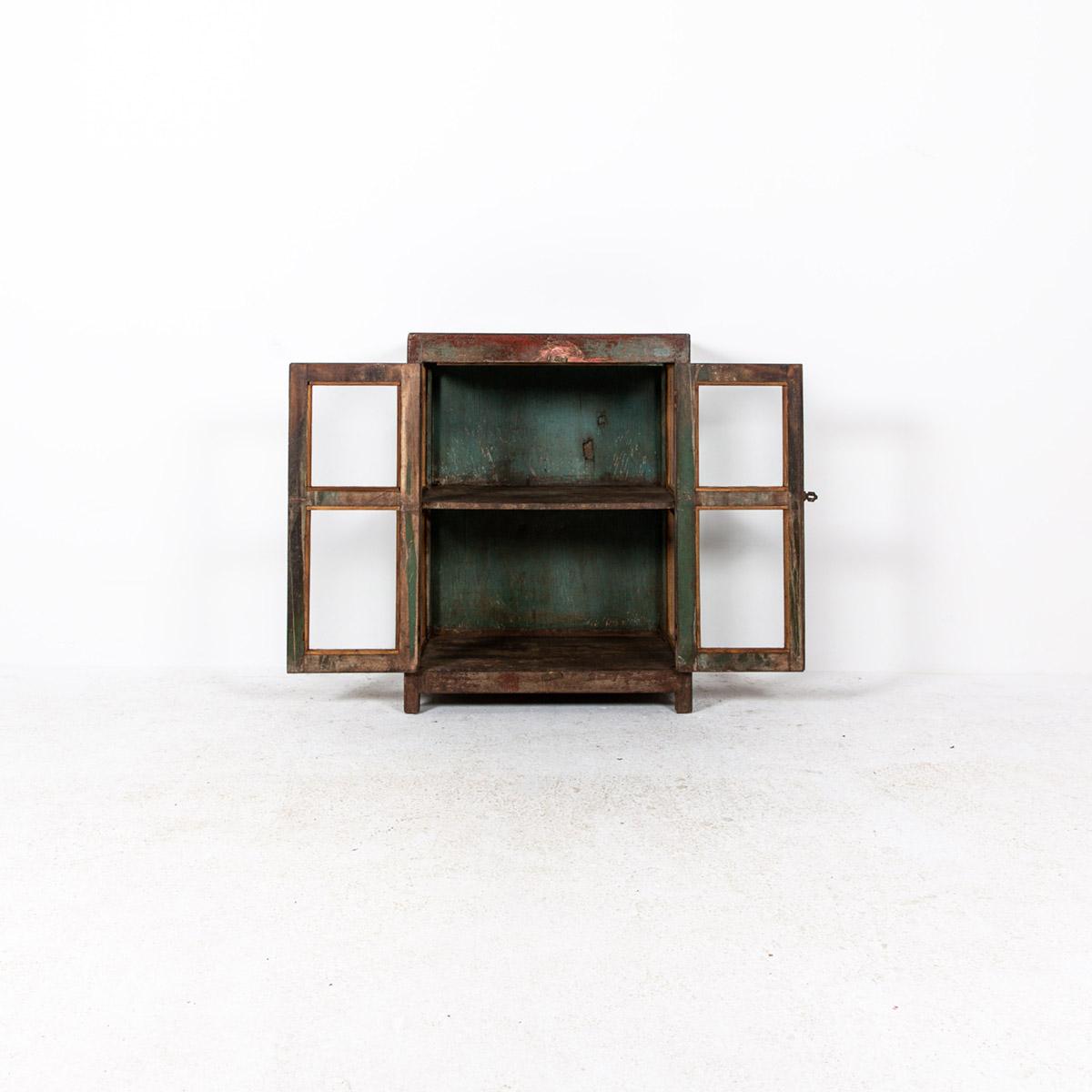 Glazen-kastje-2-deuren-bruinrood-6
