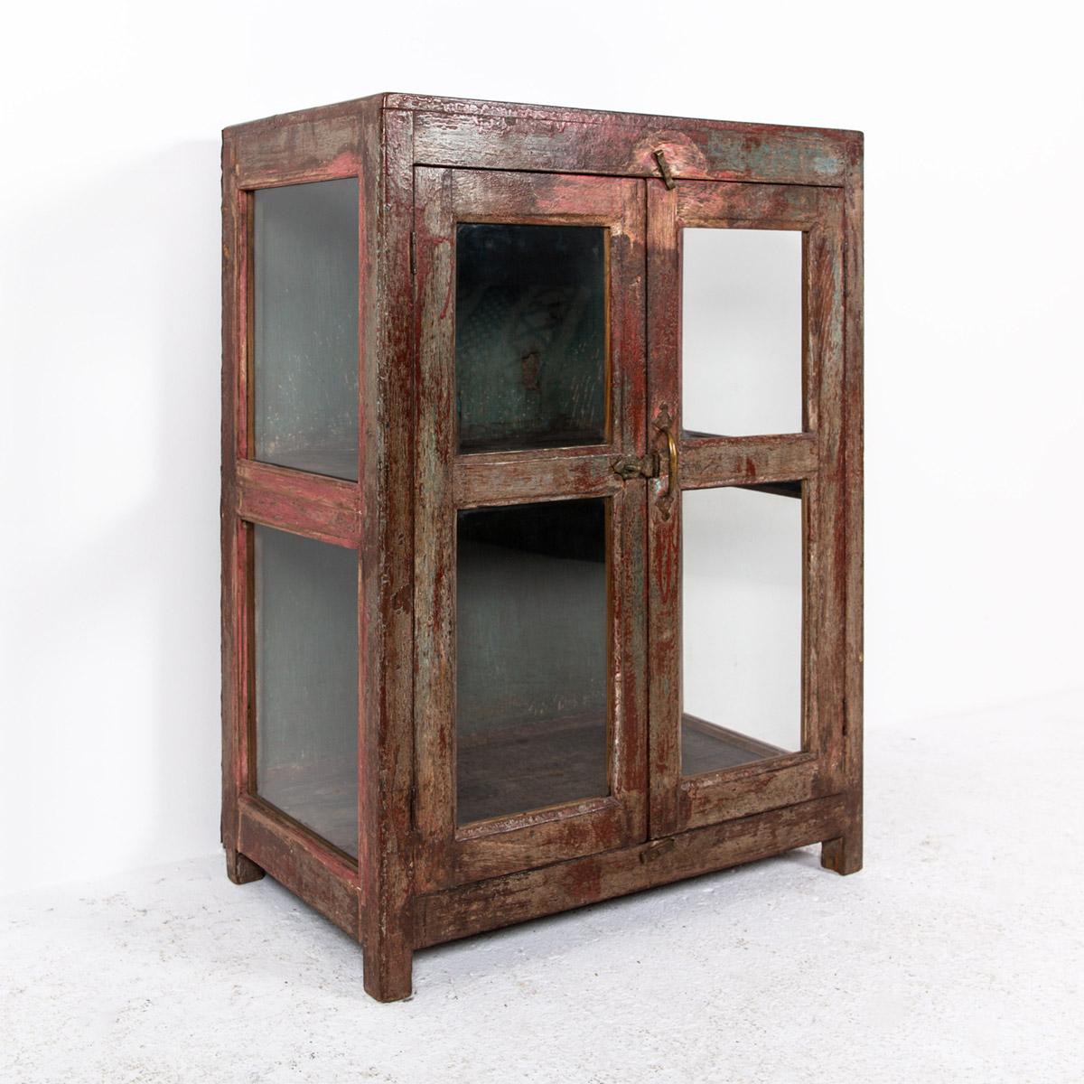 Glazen-kastje-2-deuren-bruinrood-7