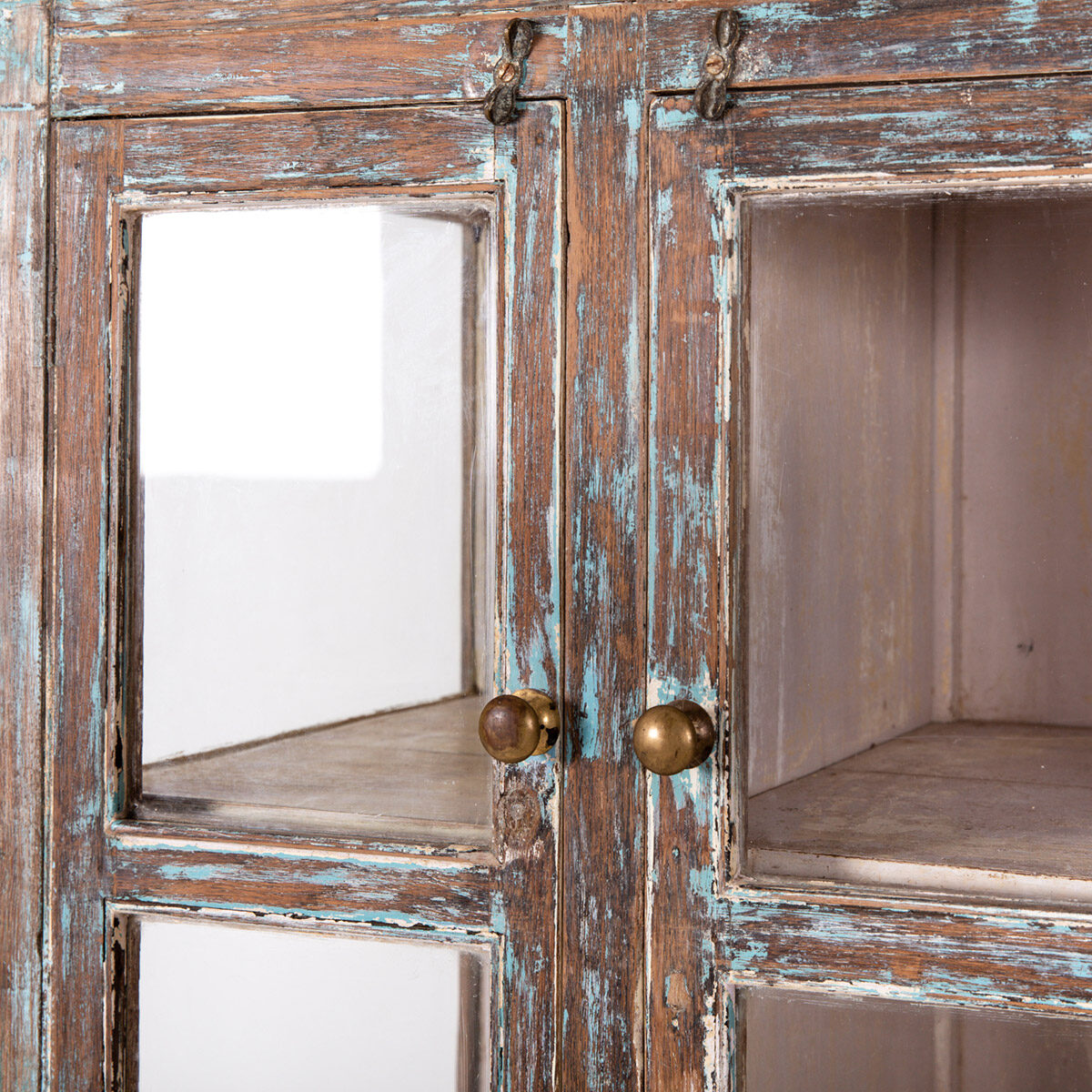 Hoge-glazen-kast-4-deuren-bruinblauw-10