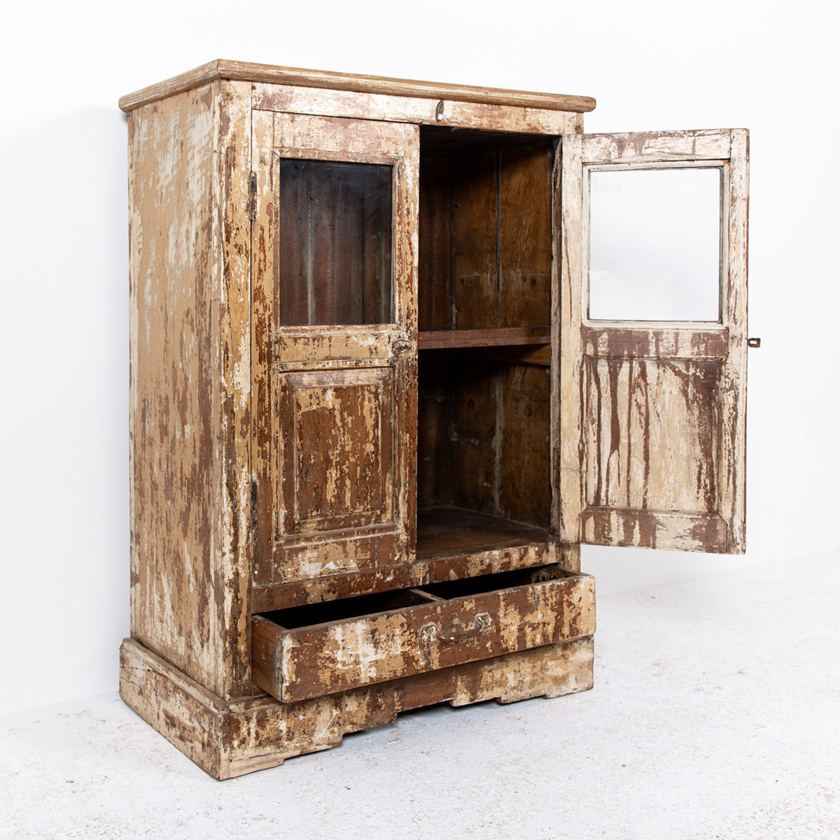 Oud-kastje-2-deuren-1-lade-bruingeel-10