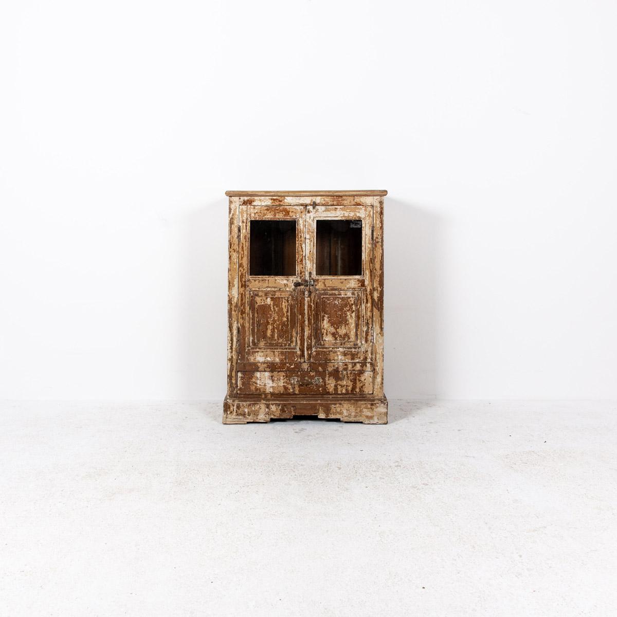 Oud-kastje-2-deuren-1-lade-bruingeel-4