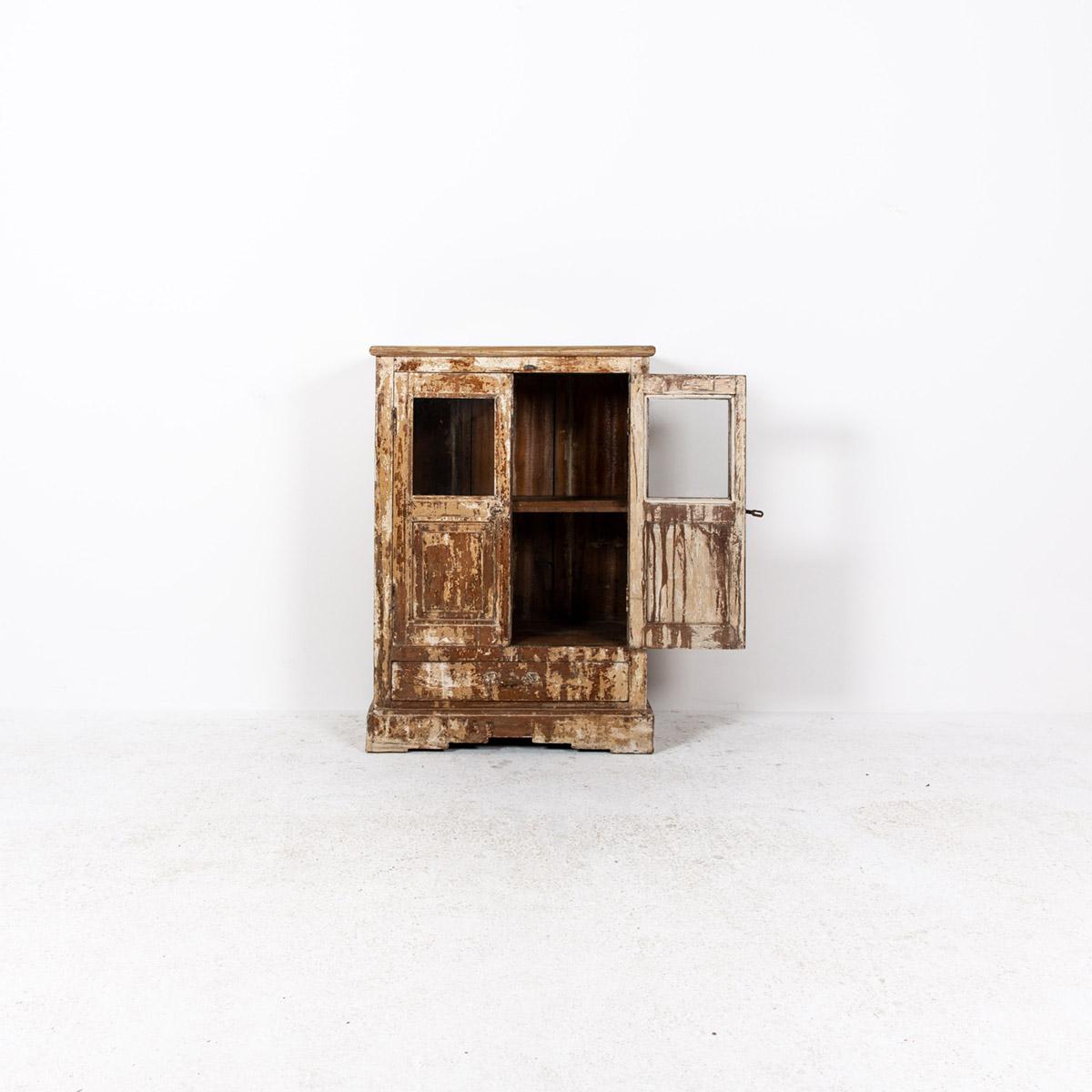 Oud-kastje-2-deuren-1-lade-bruingeel-5