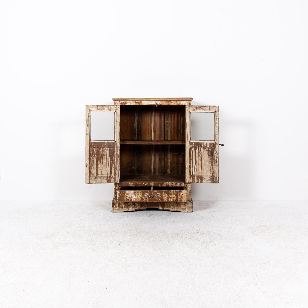Oud-kastje-2-deuren-1-lade-bruingeel-6