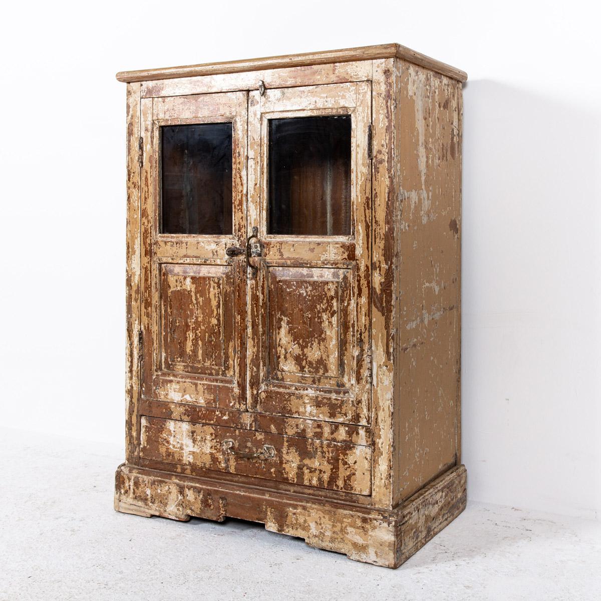 Oud-kastje-2-deuren-1-lade-bruingeel-7