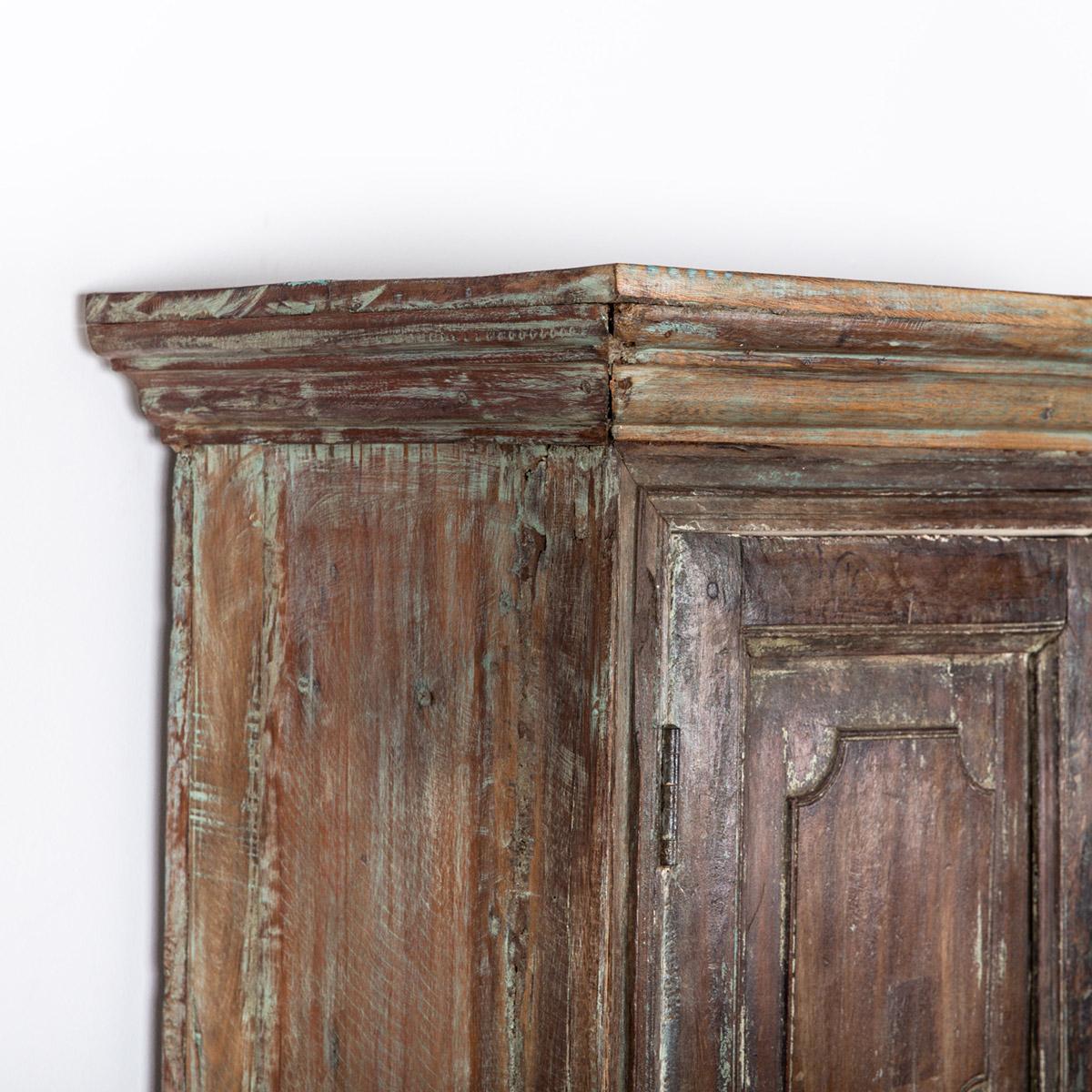 Oude-hoge-kast-2-deuren-groen-10