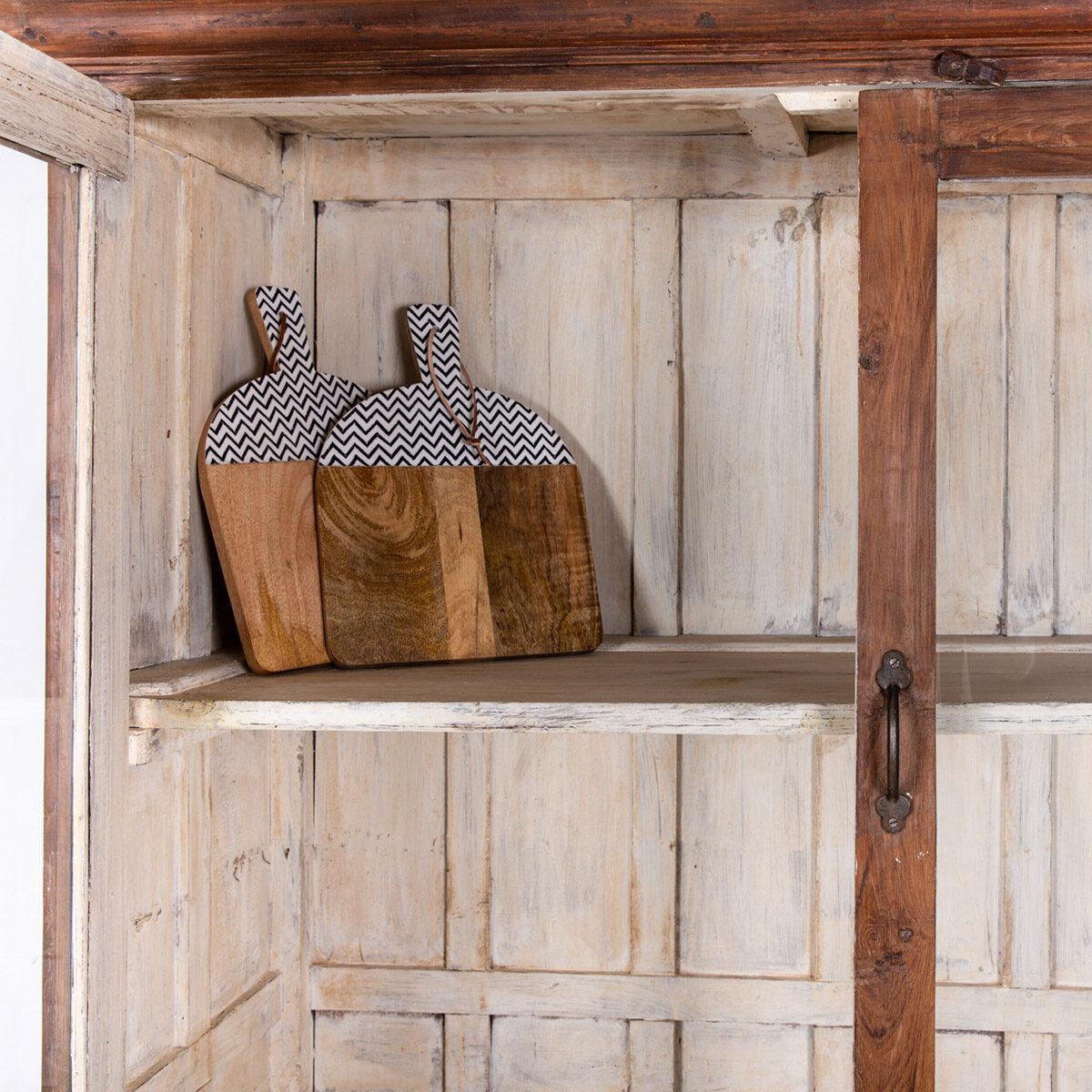 Oude-houten-vitrinekast-bruin-10