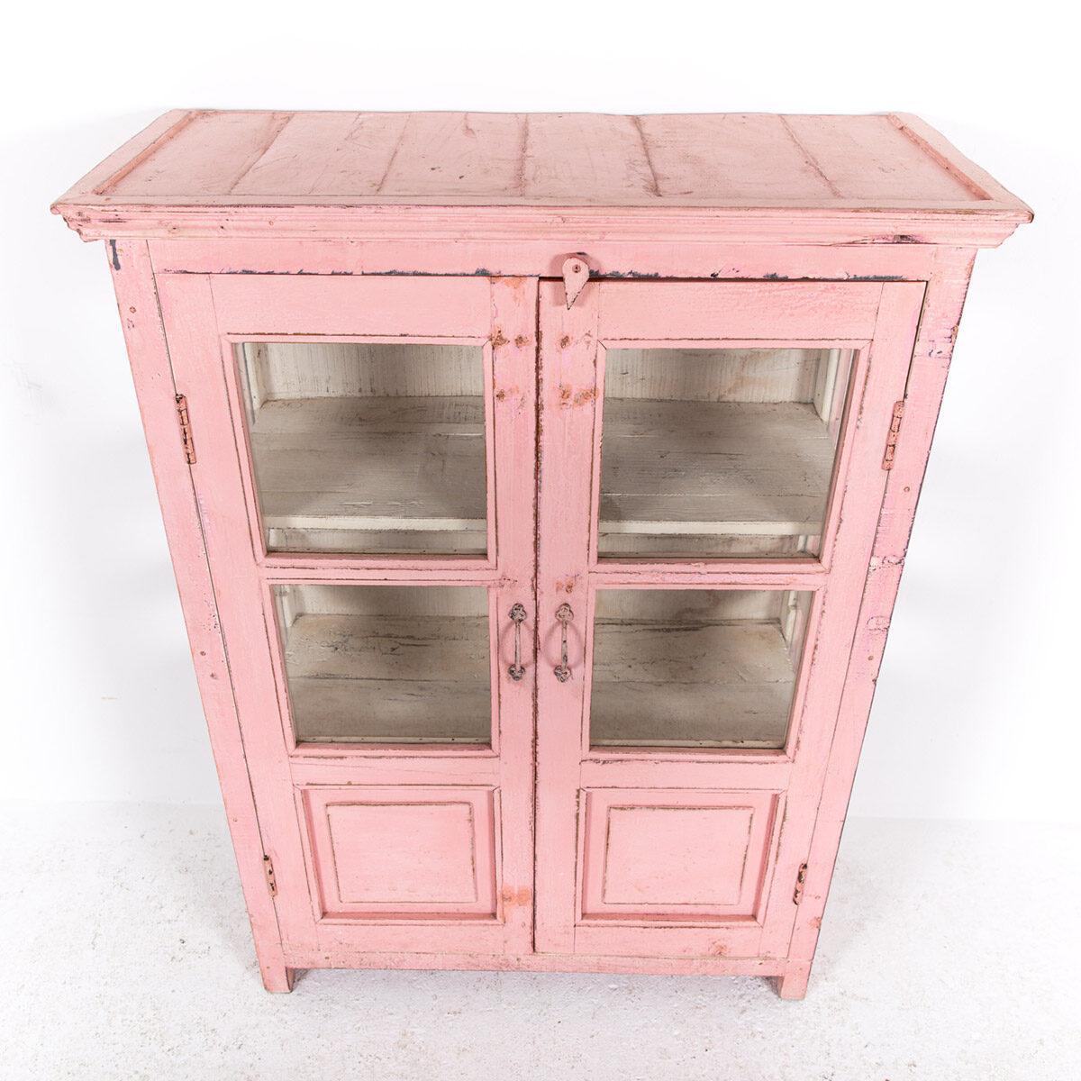 Roze-vitrinekast-2-glazen-deuren-10