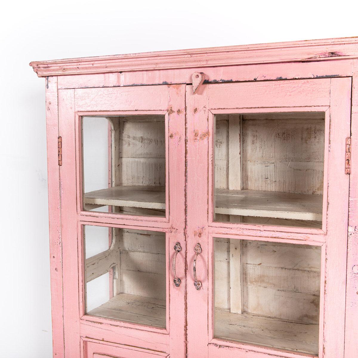 Roze-vitrinekast-2-glazen-deuren-9