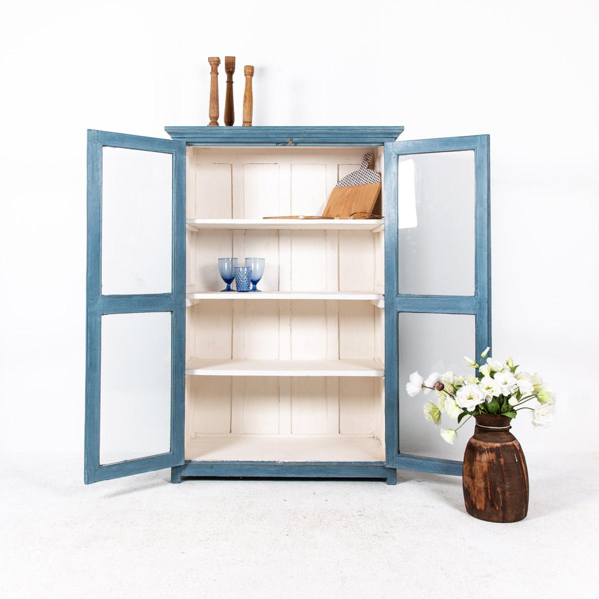 Vitrinekast-2-deuren-blauw-3