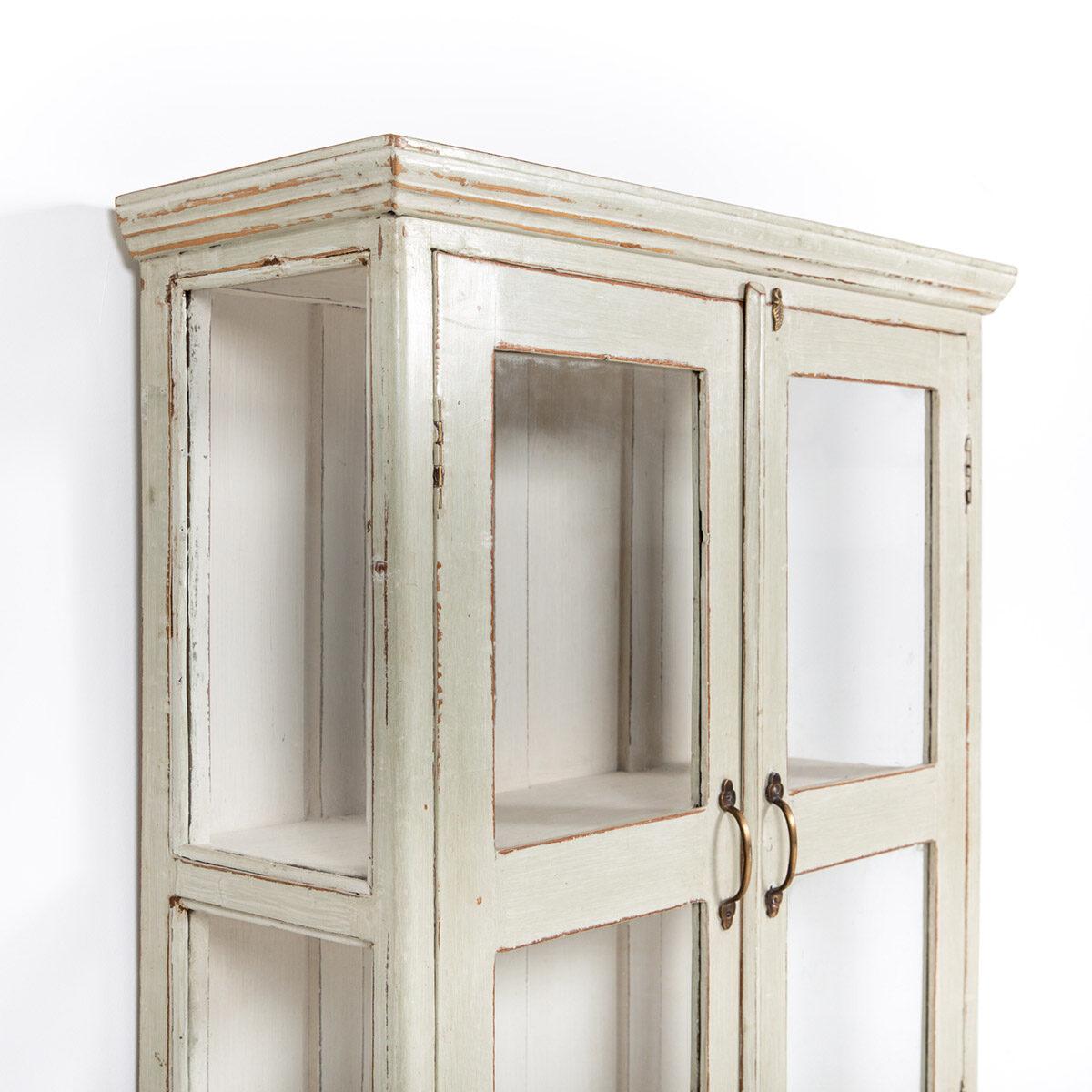Vitrinekast-2-glazen-deuren-oud-groengrijs-7