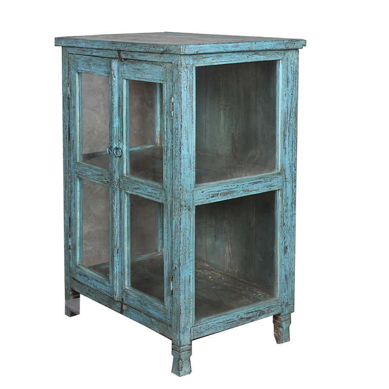 Uniek blauw vitrinekastje